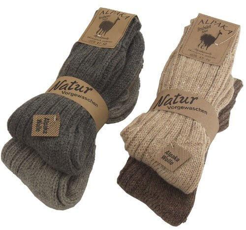 4 Paar BRUBAKER Alpaka Socken Multipack 100% Alpaka 39-42